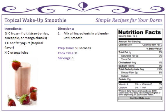 Tropical Wake-Up Smoothie